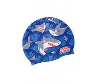 Детская силиконовая шапочка MAD WAVE SHARKY