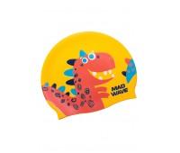 Детская силиконовая шапочка MAD WAVE DINO
